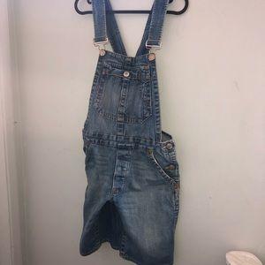 True Religion Katie Crop Shorts Overalls S